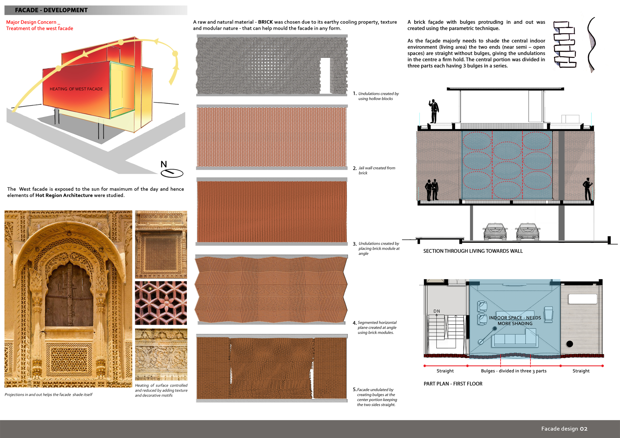 Gallery of brick curtain house design work group 33 for House design com