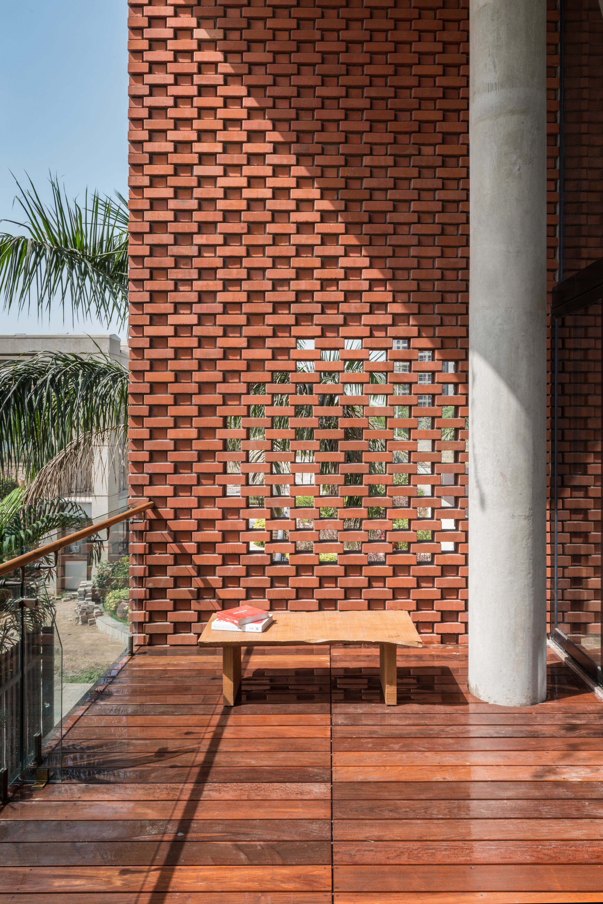 Gallery of brick curtain house design work group 2 - Exterior brick wall design ideas ...
