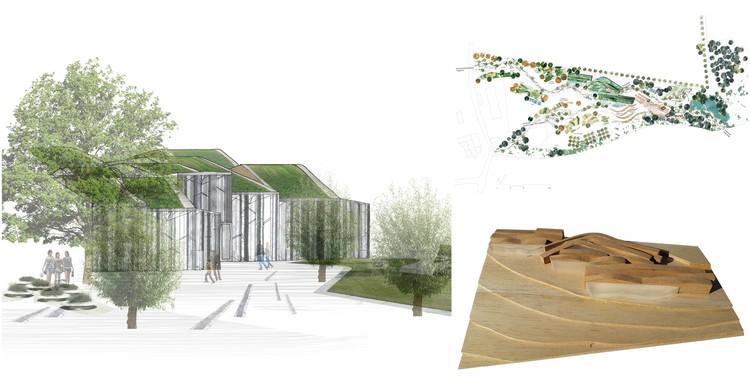 EMBT gana concurso para diseñar Centro de la Biodiversidad en la frontera germano-checa, Cortesía de EMBT