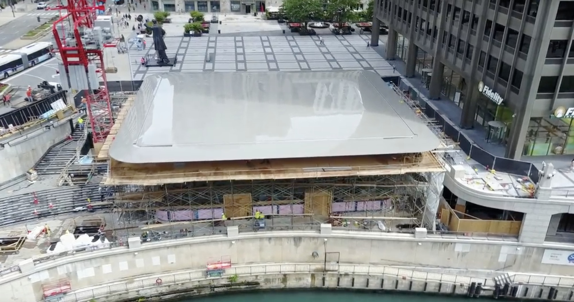 Chicagos New Apple Store Installs Giant MacBook Roof ArchDaily - New apple store in chicago will have a giant macbook as its roof