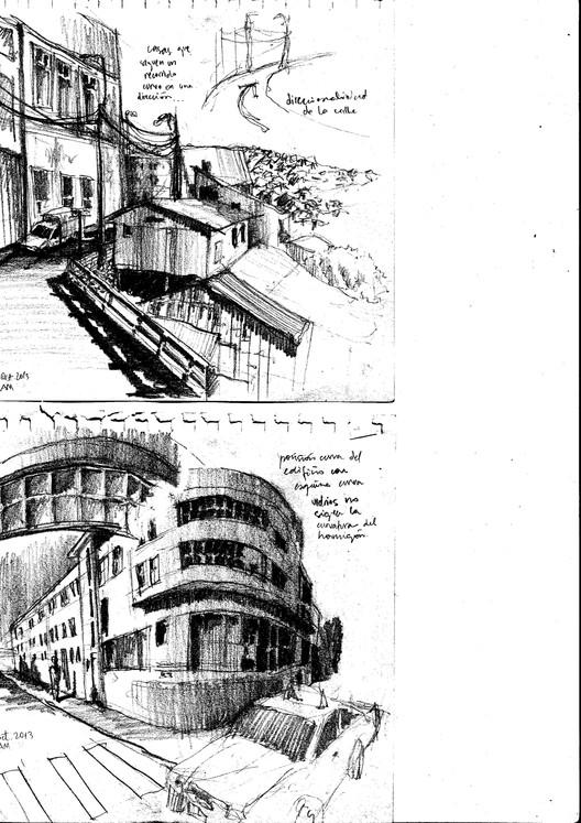 'Bitácoras de viaje': el croquis desde la mirada del estudiante de arquitectura, Valparaiso, Chile. Image Cortesía de Ignacia Garate