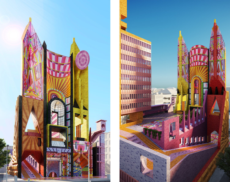 The Democratic Monument: Adam Nathaniel Furman's Manifesto for a New Type of Civic Center, © Adam Nathaniel Furman