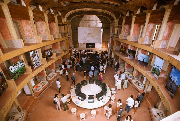 OMA Unveils Urban Study and Strategy for Manifesta 12 in Palermo, Palermo Atlas announcement, Teatro Garibaldi, Palermo. Image © CAVE Studio, courtesy Manifesta