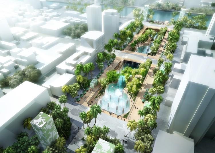 Lagoa urbana do MVRDV começa a ser construída em Taiwan, Cortesia de MVRDV. Imagem © APLUS CG