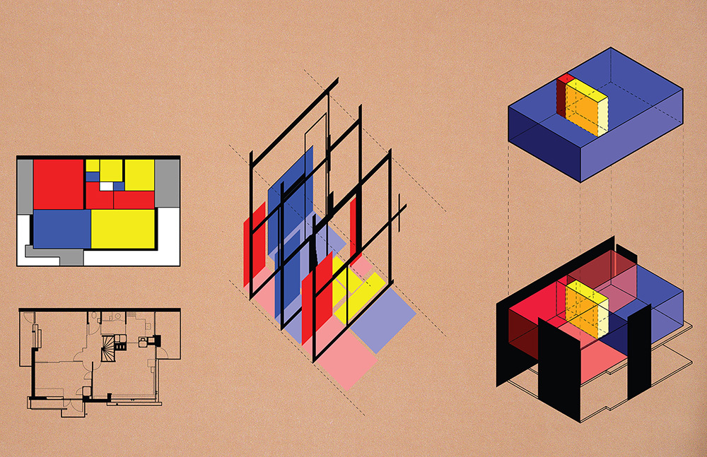 Diagrams of the Rietveld Schroder House Reveal its Graphic ... | 1000 x 647 jpeg 383kB
