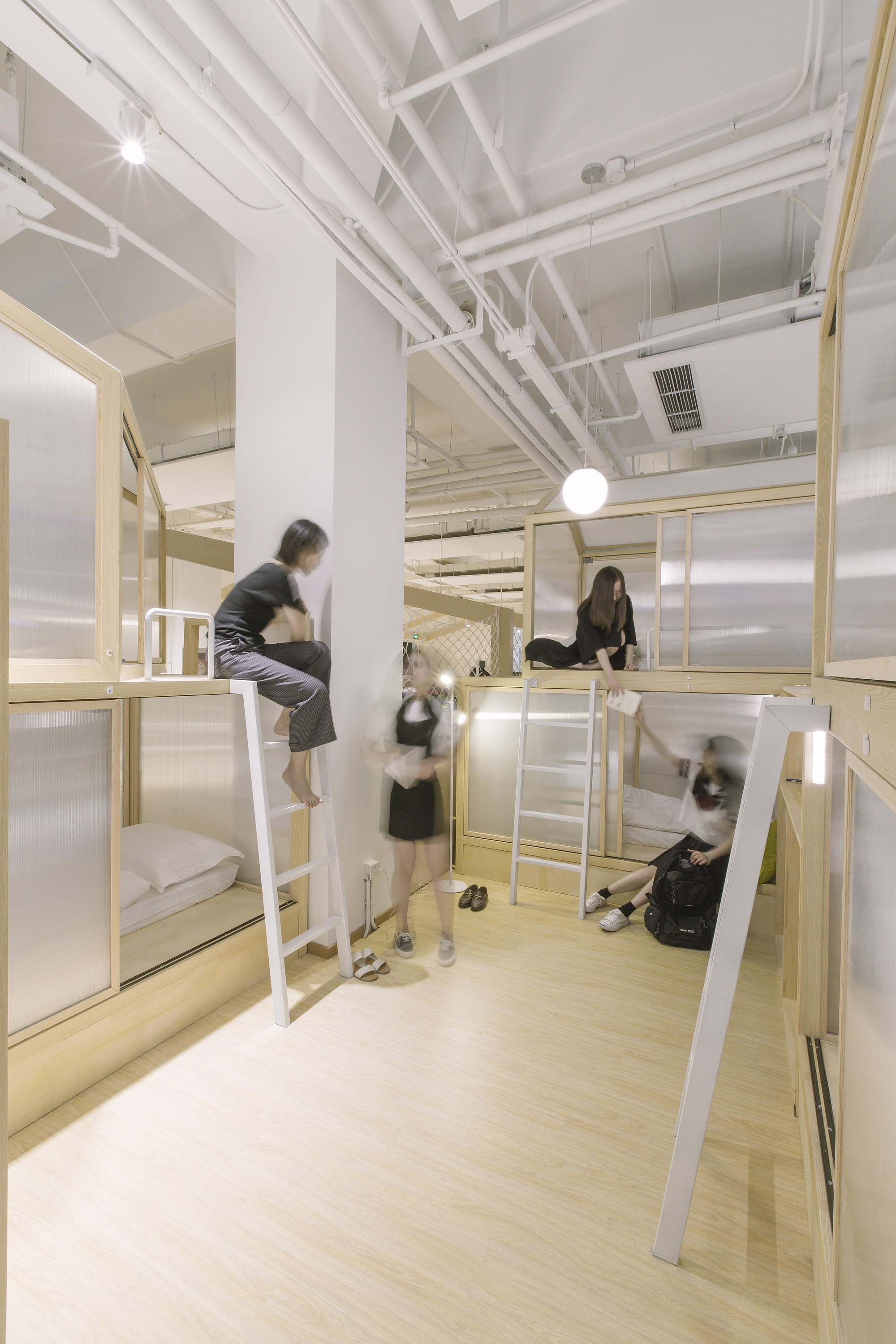 Hostel Architecture And Design Archdaily Loft Light Wiring Diagram Together Cao Pu Studio