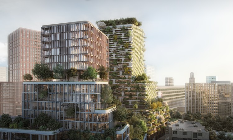 Stefano Boeri Architetti Wins Competition for First Dutch Vertical Forest, © Imaginary A2 / Stefano Boeri Architetti
