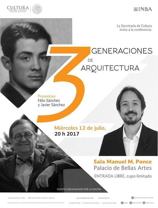 3 generaciones de arquitectura, vía Palacio de Bellas Artes