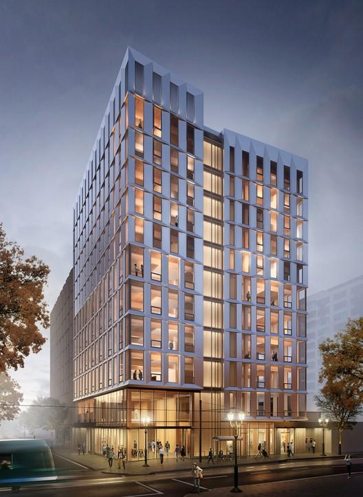 Oregon albergará el edificio en madera más alto de Estados Unidos, Cortesía de LEVER Architecture