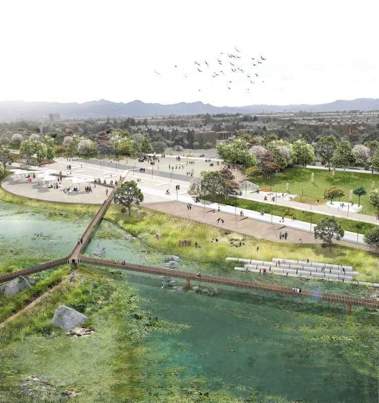 Colectivo 720, tercer lugar en concurso de ideas del futuro Parque Juan Amarillo de Bogotá, Cortesía de Colectivo 720