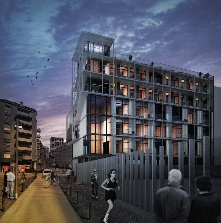 Projeto vencedor no concurso para habitações cooperativas em Barcelona, Cortesía de Lacol + La Boqueria