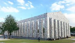 """Parthenon of Books"" Constructed from 100,000 Banned Books Rises at Nazi Book Burning Site in Germany"
