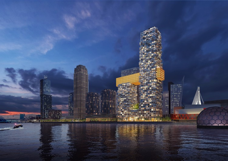 MVRDV Wins Competition for Bay-Window-Inspired Mixed-Use Towers in Rotterdam, © MVRDV