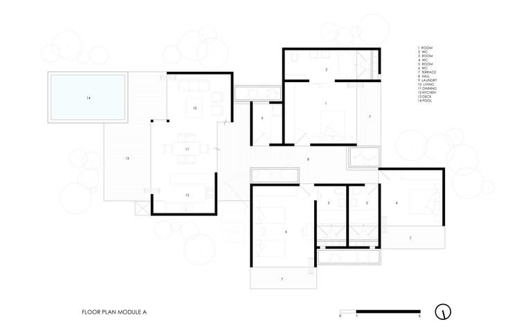 Planta módulo A Planta módulo A. Los huéspedes del hotel disponen de casas  individuales ... 4a21699eb83
