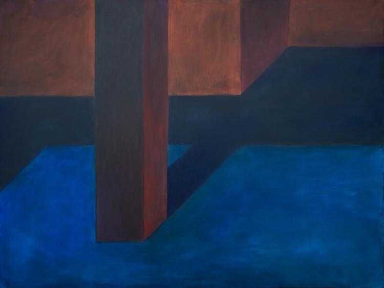Pezo von Ellrichshausen compone intrigantes espacios cotidianos en las pinturas de 'Exterior', 71007161632 (Interior número 001), óleo sobre lienzo, 180 x 240 cm, 2016. Image © Solo Galerie