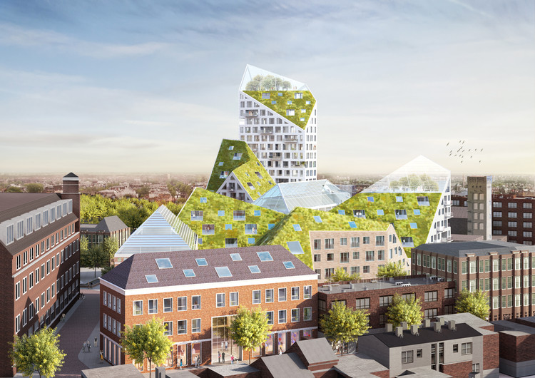 MVRDV and SDK Vastgoed Selected to Design Sustainable Housing Complex in Eindhoven, © MVRDV