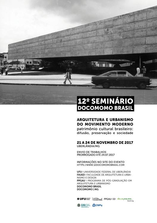 12º Seminário Docomomo Brasil, Cartaz Divulgação 12º Seminário Docomomo Brasil