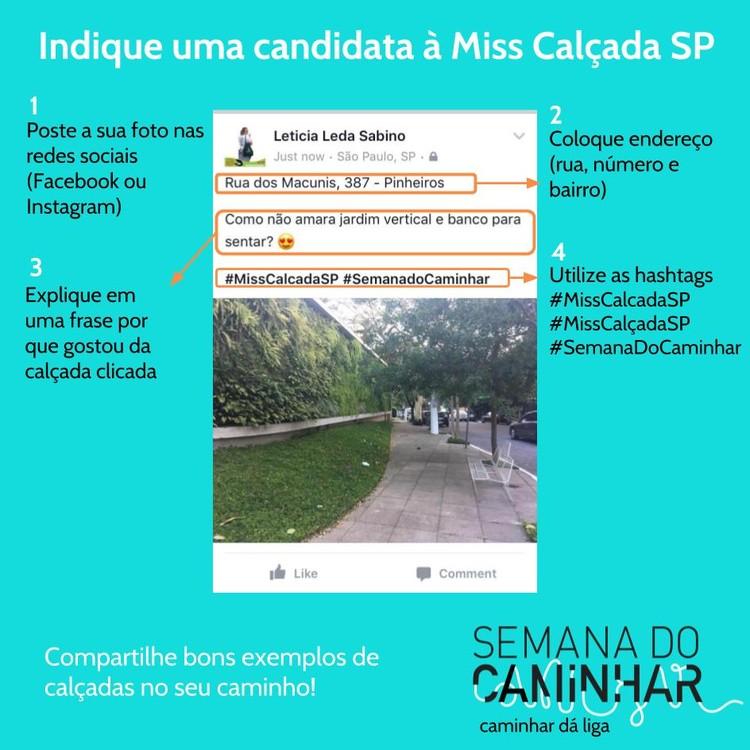 Concurso Miss Calçada SP, Como participar - Concurso Miss Calçada SP