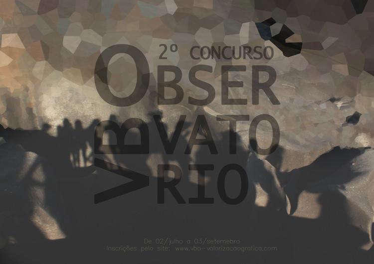 Chamada para Inscrições: 2º prêmio VBO - Observatório, Cartaz produzido pelo grupo VBO