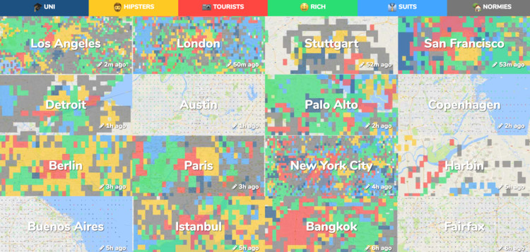 Where Are the Hipsters in Your City? These Crowdsourced Maps Will Show You, Courtesy of Hoodmaps