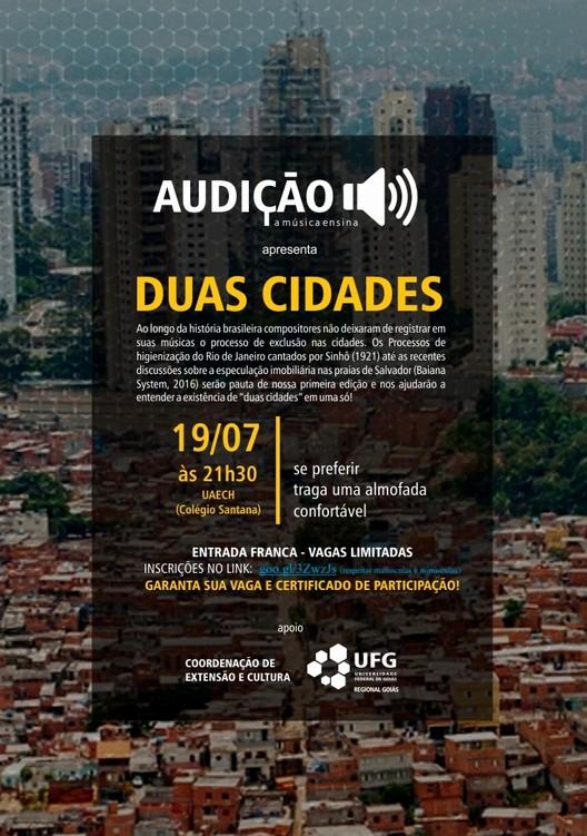 Audição - A música ensina  | Edição #1 - Duas cidades , Cartar - Duas Cidades