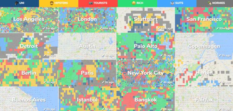Onde estão os hipsters em sua cidade? Descubra com estes mapas colaborativos, Cortesia de Hoodmaps