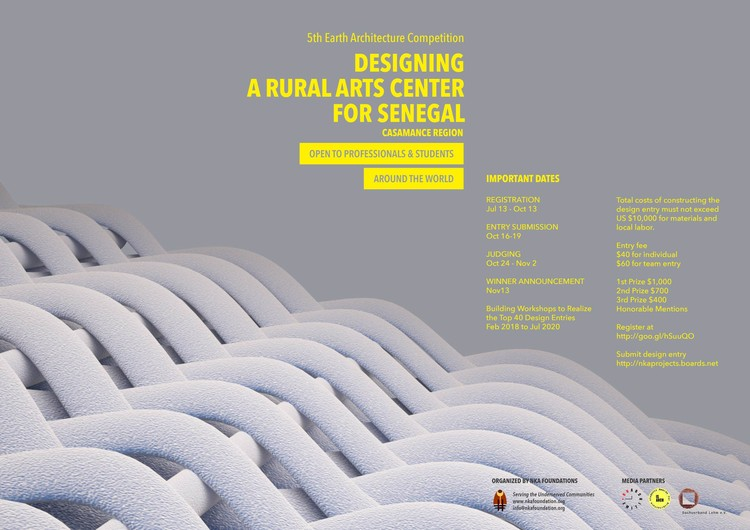 5th EARTH ARCHITECTURE COMPETITION: Designing a Rural Arts Center for Senegal