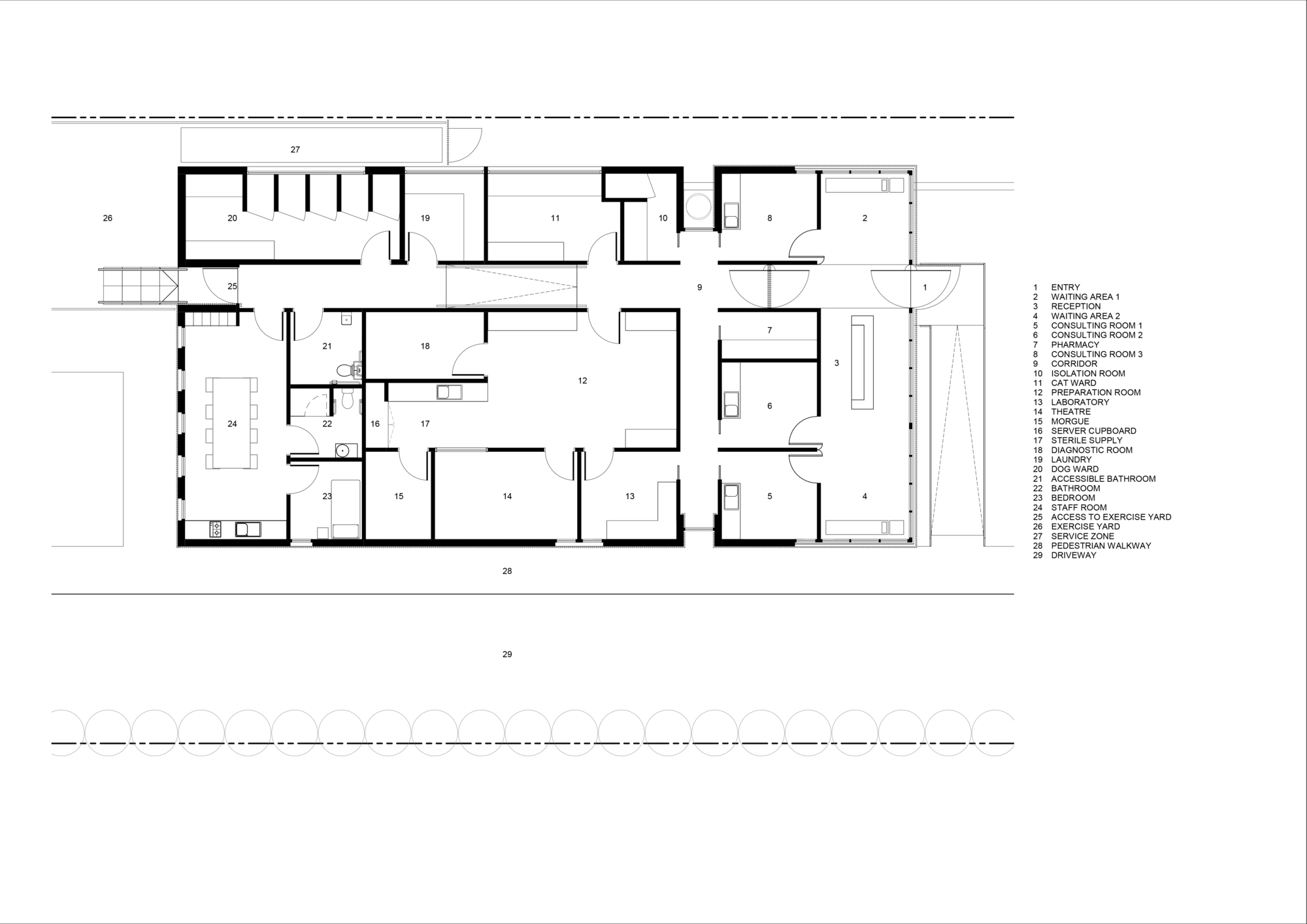 520d4ea6e8e44e4bf9000096 Ridge House Grid Architects Plan in addition ConceptScoring besides Jmd tzg blaxland Playground Plan besides Thorncrown Chapel further 596ee328b22e3854ce00008d Wallan Veterinary Hospital Crosshatch Floor Plan. on architecture