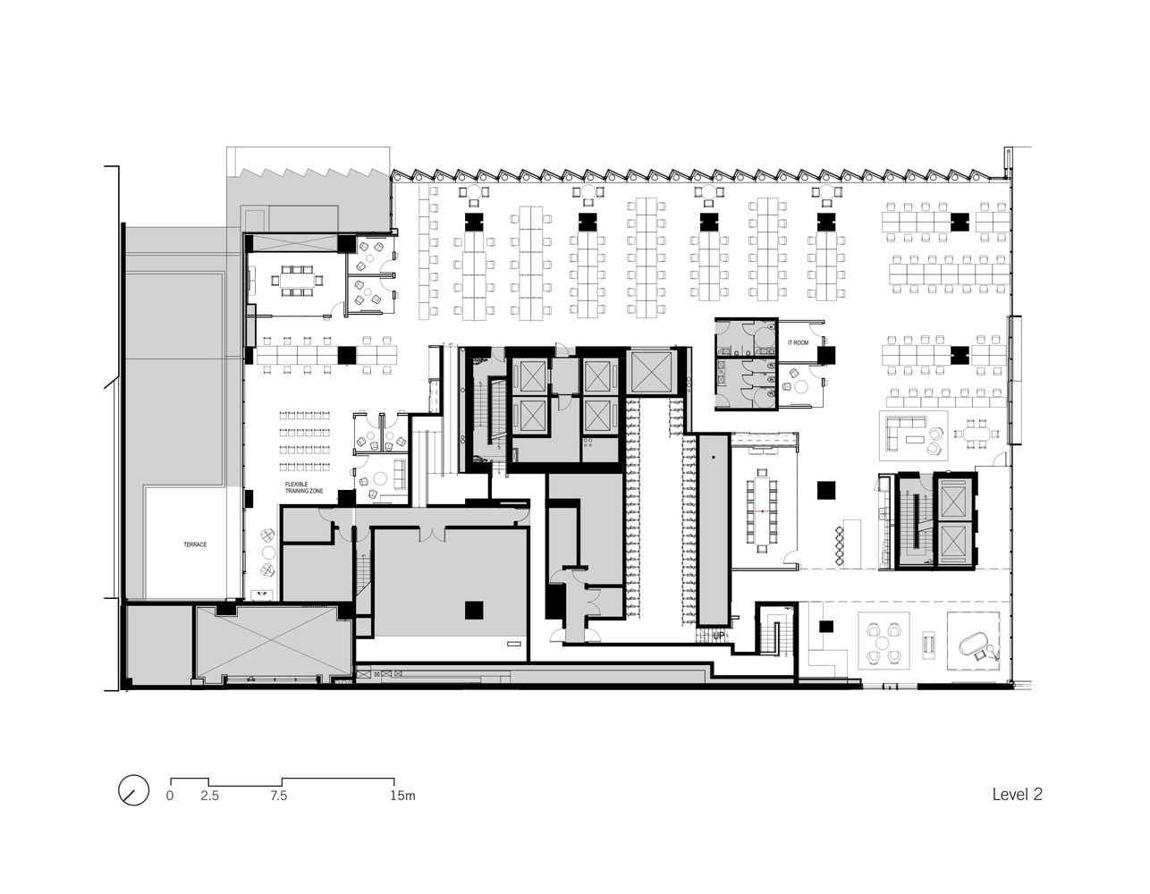 Bench Accounting Office Interiors / Perkins+Will. First Floor Plan