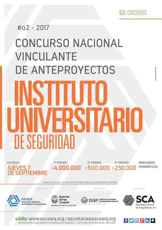 Concurso Nacional Vinculante de Anteproyectos: Instituto Universitario de Seguridad / Argentina, Cortesía de Sociedad Central de Arquitectos