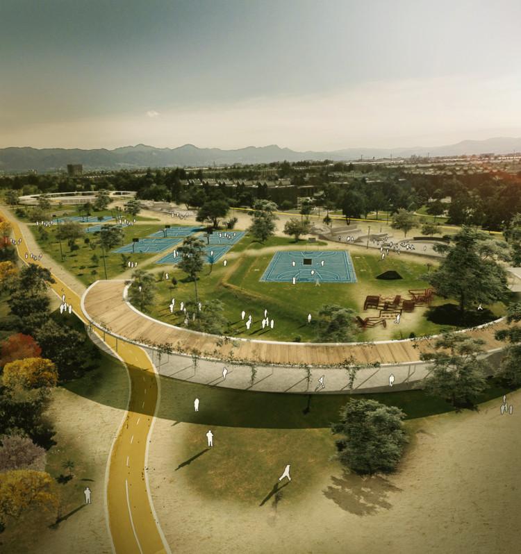 mayorga+fontana + Plano Arquitectos, segundo lugar en concurso de ideas del Parque Juan Amarillo, Cortesía de mayorga+fontana + Plano Arquitectos
