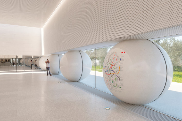 "AI-Architects' Competition-Winning Moscow Metro Station Design Utilizes ""Friendly"" Rounded Forms, Courtesy of AI-architects"