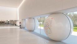 "AI-Architects' Competition-Winning Moscow Metro Station Design Utilizes ""Friendly"" Rounded Forms"