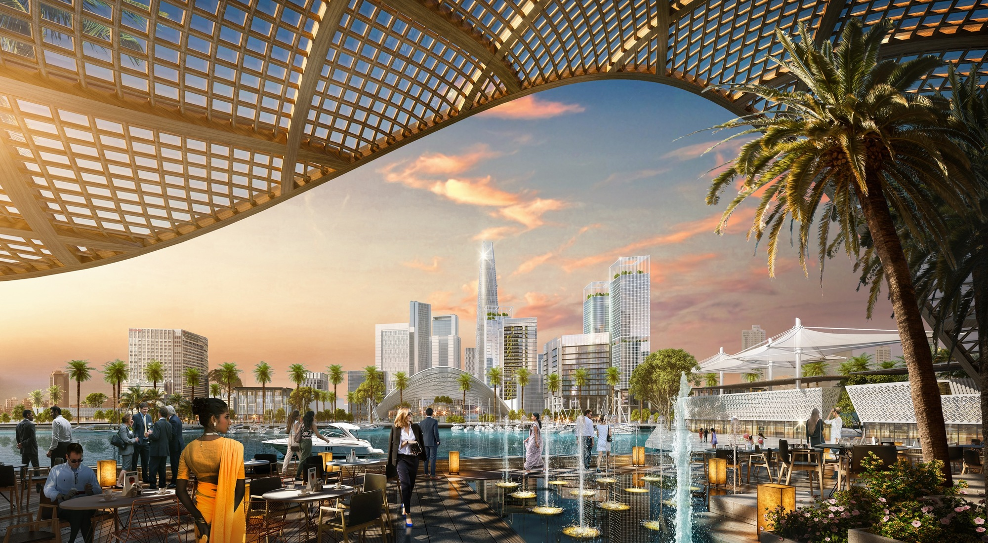 SOM Wins Competition to Master Plan Port City Colombo in Sri Lanka,  SOM |
