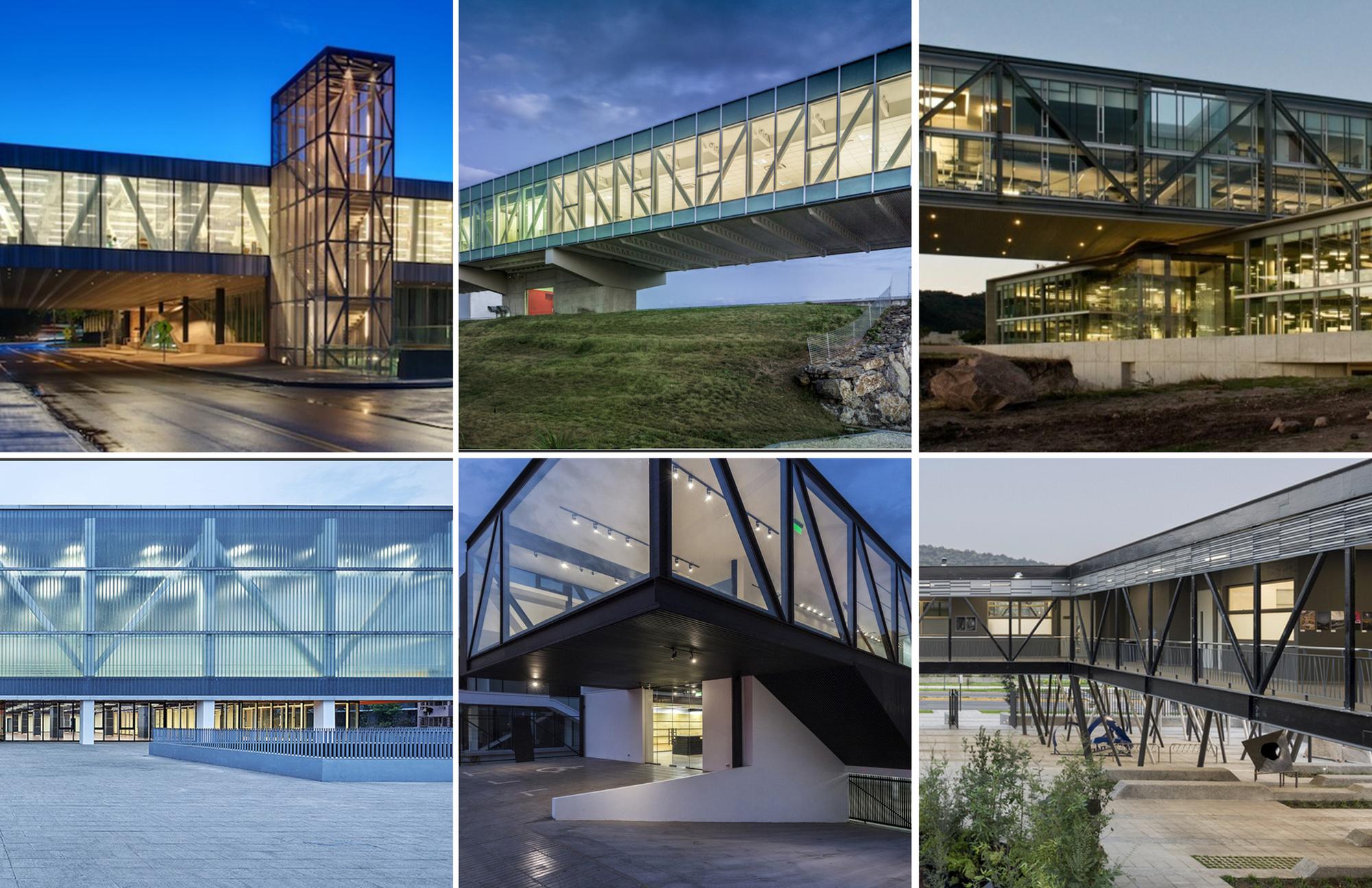 10 ejemplos de vigas cerchas met licas como estructura for Plataforma de arquitectura