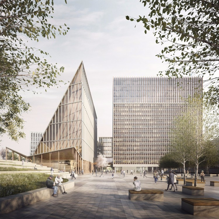 Finalists Announced for Redesign of Norwegian Government Headquarters After 2011 Attacks, © Team Ubris / Statsbygg