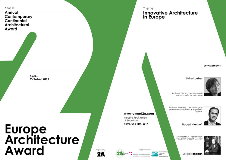 2A Europe Architecture Award 2017 , Europe Architecture Award and introduction of Jury members