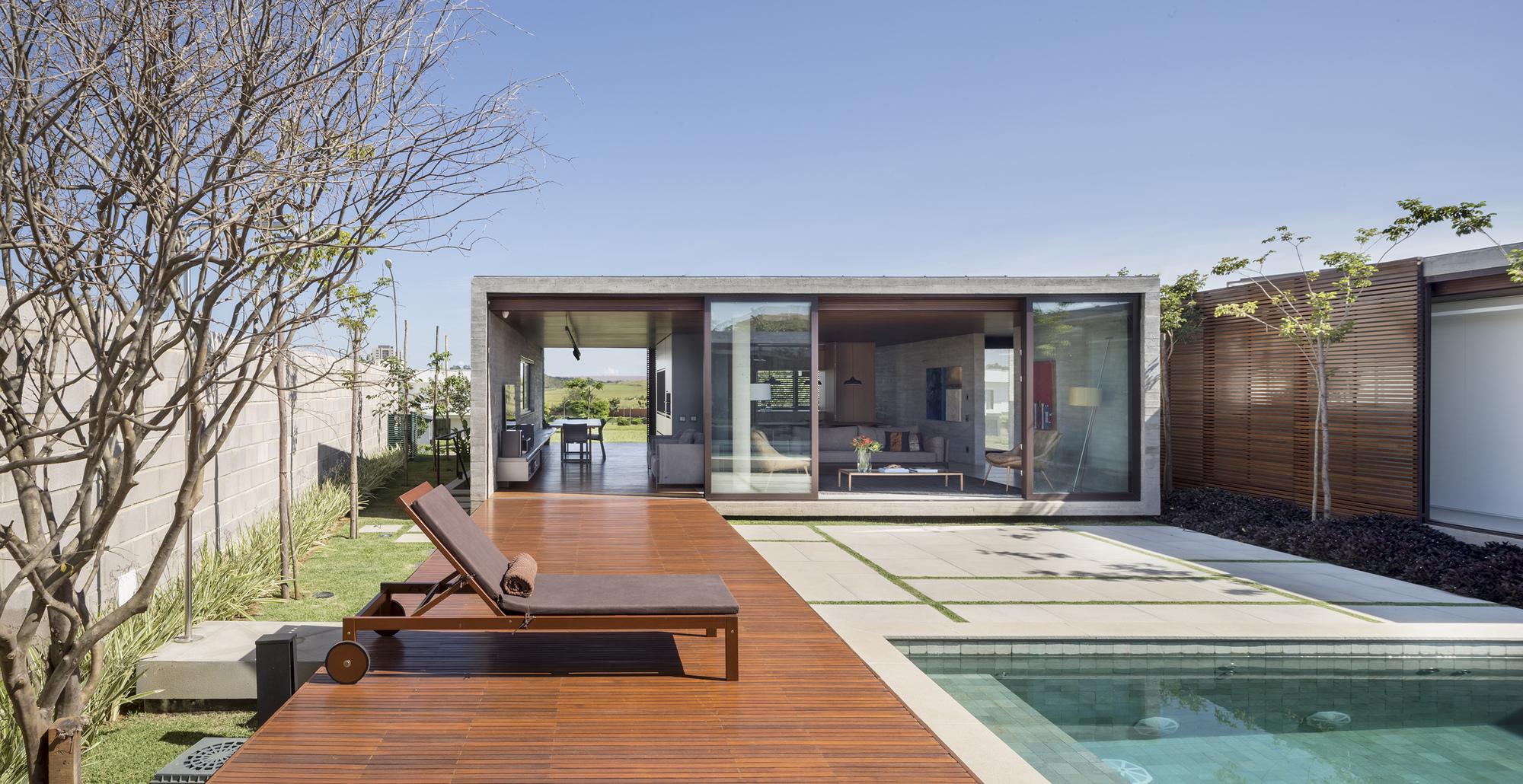 Galer a de casa g ths arqbr arquitetura e urbanismo 10 for Modelos de techos para galerias