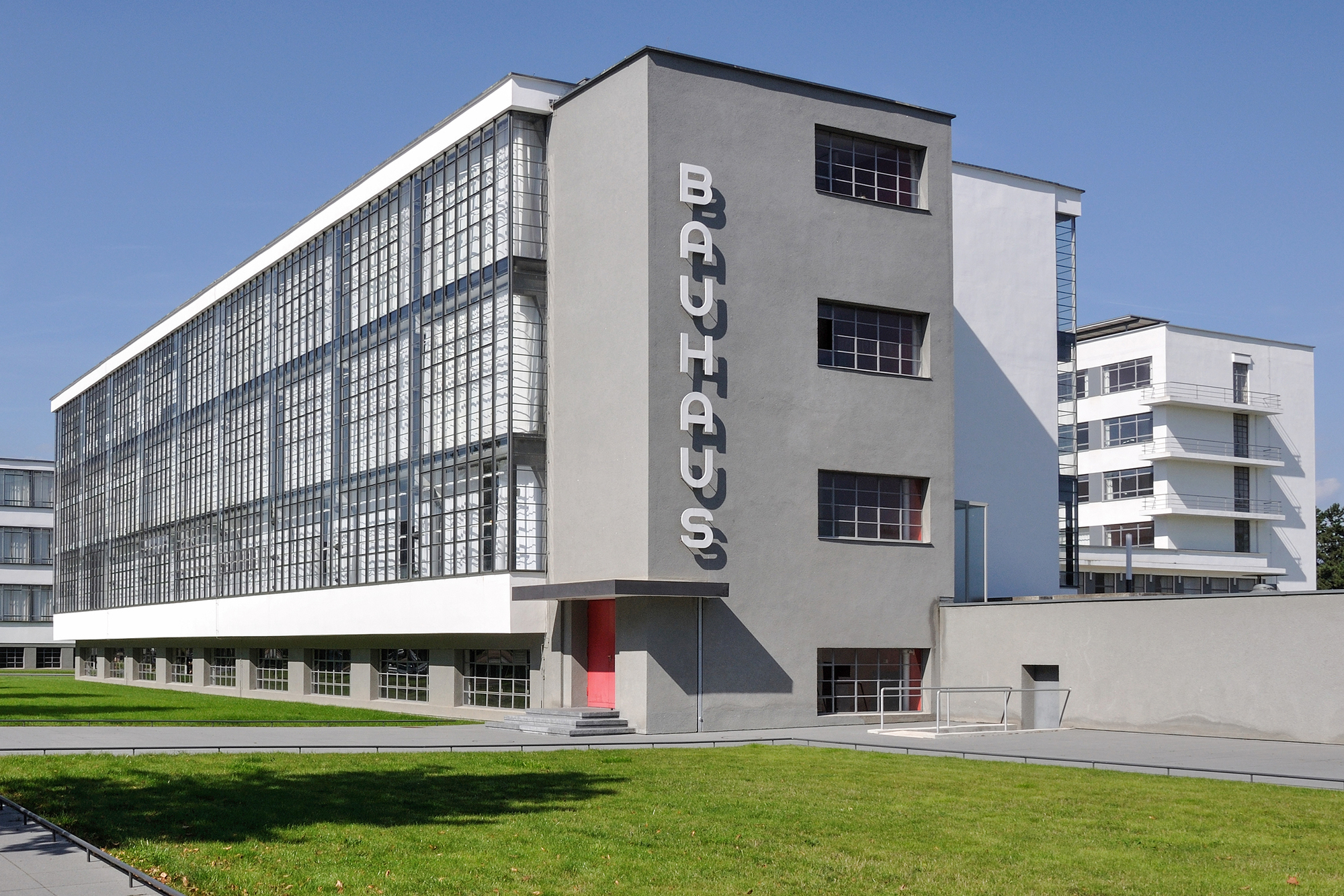 Part of the Bauhaus building at Dessau, Germany