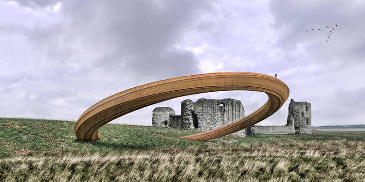 "Plans for ""Iron Ring"" Sculpture in Wales Put on Hold After Public Outcry, Courtesy of George King Architects"