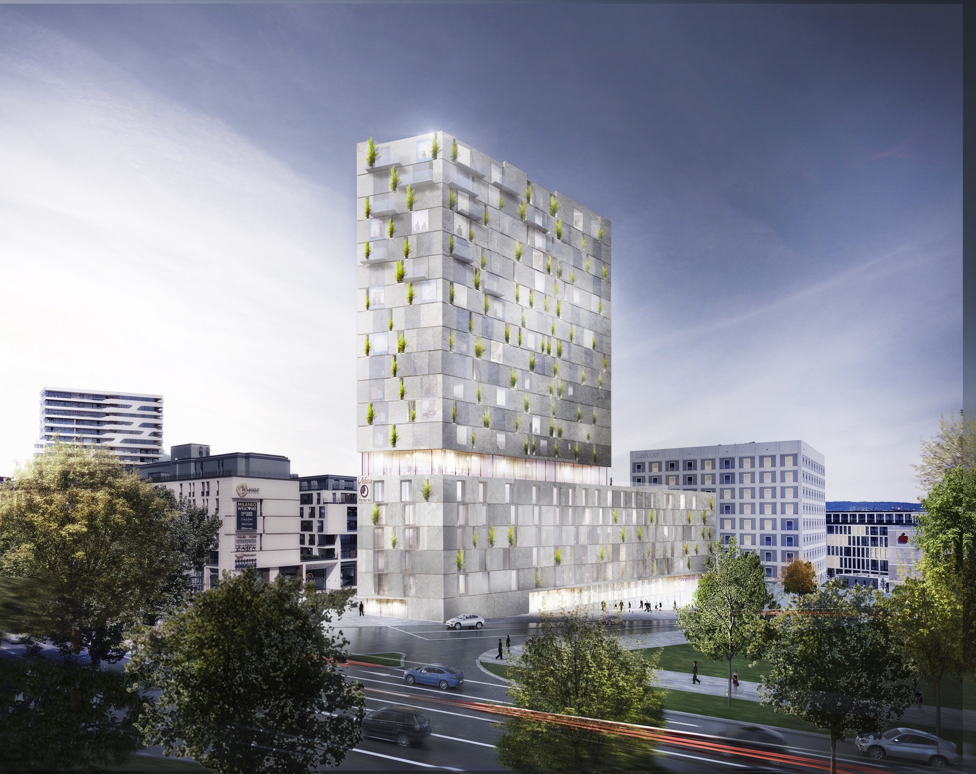 RKW Architektur + Wins Competition for Stone-Clad Mixed-Use Building in  Stuttgart,
