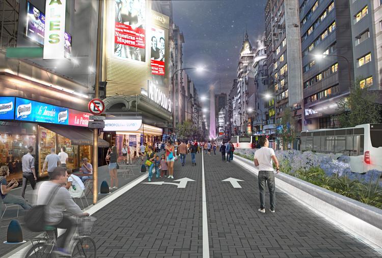Prefeitura de Buenos Aires tornará a avenida Corrientes exclusiva para pedestres à noite, via Governo da Cidade Autônoma de Buenos Aires CC BY 2.5 AR