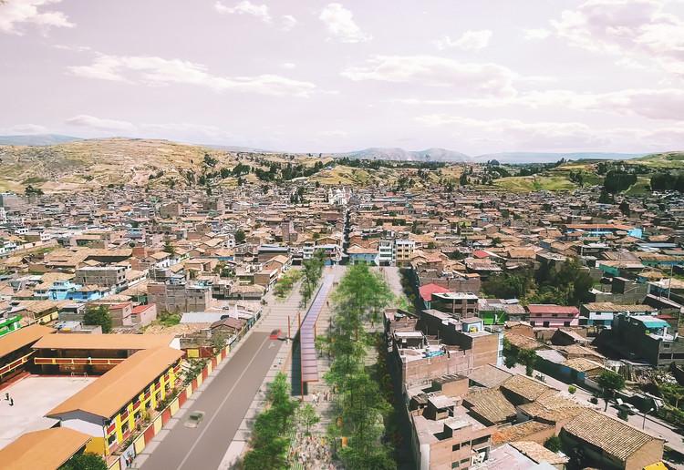 Primer lugar Concurso 'Alameda Clodoaldo' en Jauja, Perú / Plataforma Activa, AEREA 01. Image Cortesía de BALARQ