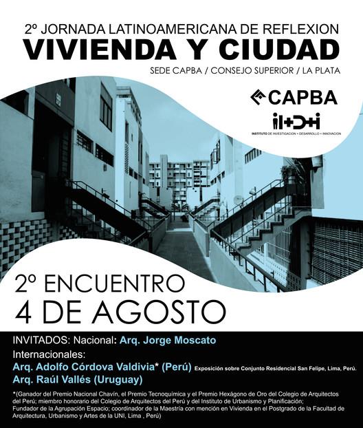 2° Jornada latinoamericana de reflexión: Vivienda y Ciudad / La Plata, Argentina, vía CAPBA
