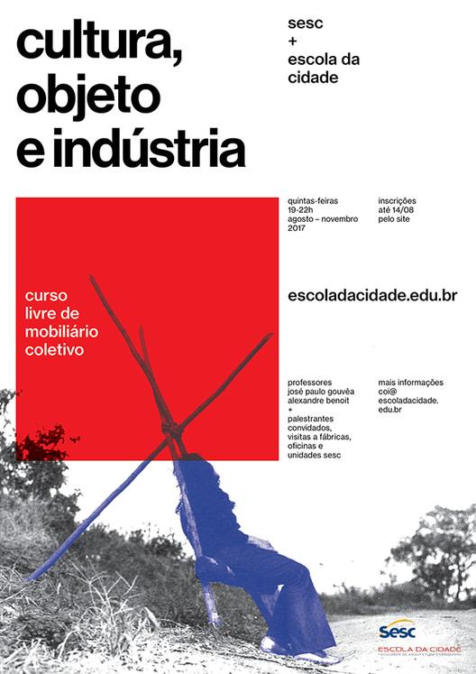 Curso Livre  sobre Mobiliário Coletivo, Inscrições até 14 de agosto.