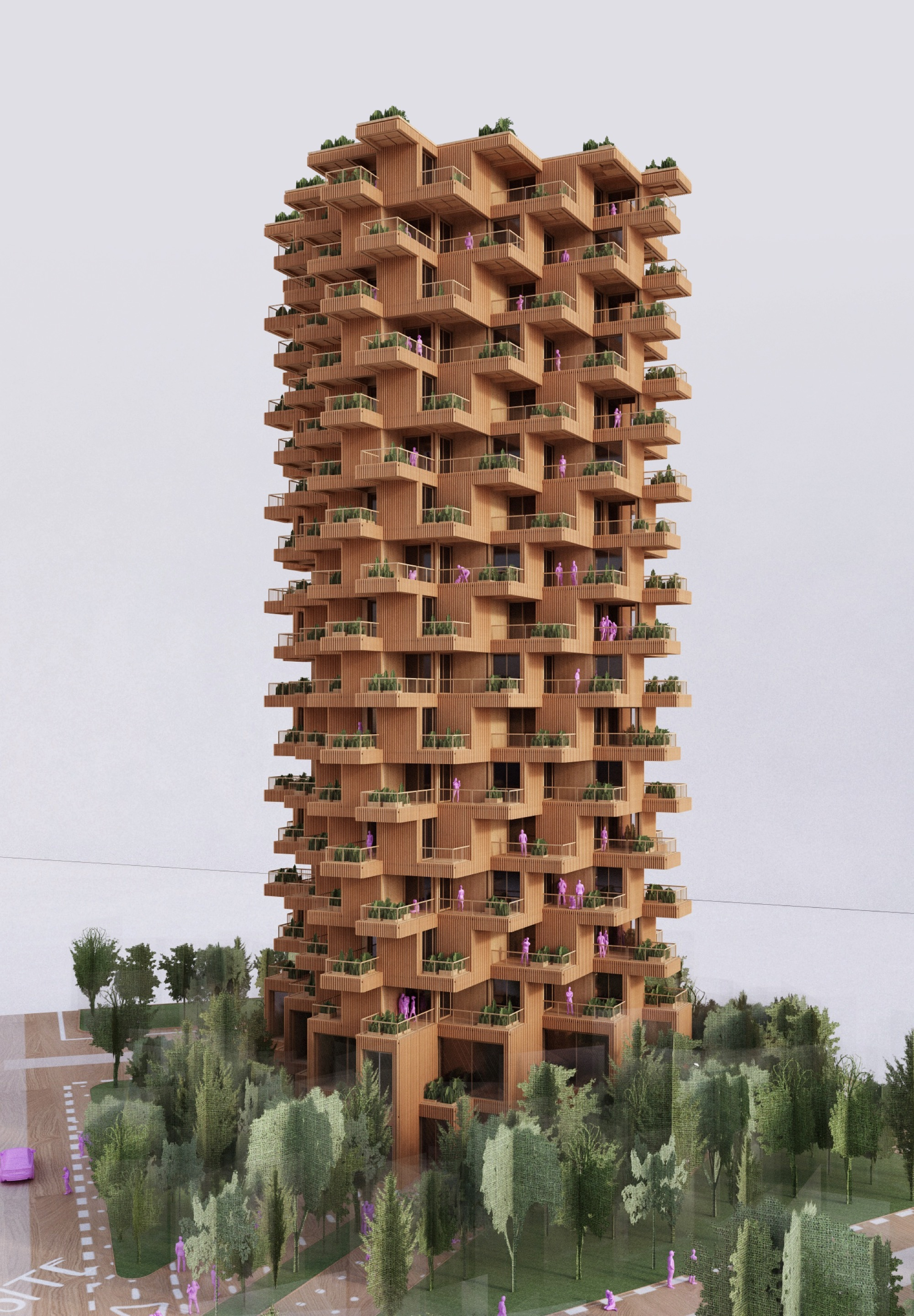 Gallery of Penda Designs Modular Timber Tower Inspired by ...