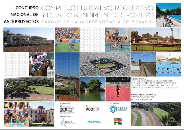 Rosario presenta concurso para diseñar complejo educativo, recreativo y de alto rendimiento deportivo en el Parque de la Independencia, vía CAPSF
