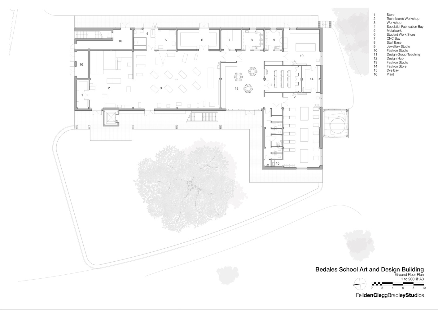 Bedales school art and design feilden clegg bradley studios ground floor plan