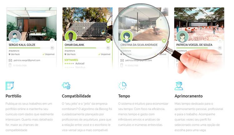 Beoog: o Tinder de empregos de arquitetura, via Beoog