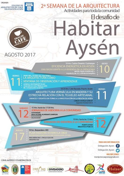 II Semana de la Arquitectura Aysén, Afiche II Semana de la Arquitectura Aysen, Chile